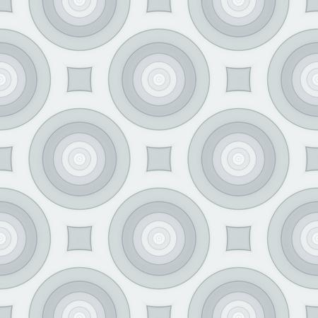 Retro seamless pattern with circles. Art illustration.