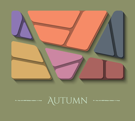 Unusual autumn vector illustration of modern colors and material design. Abstract colored background.