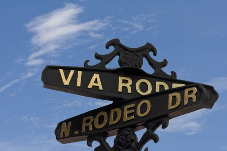 Rodeo drive street sign (Beverly Hills) photo