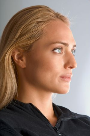 Portrait of tanned blonde in sport suit Stock Photo - 876865