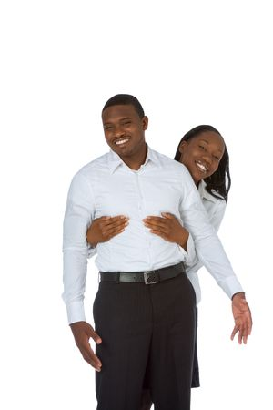 Happy young African-American couple photo
