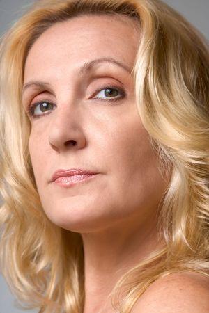 Headshot of mature blond woman Stock Photo - 3308312