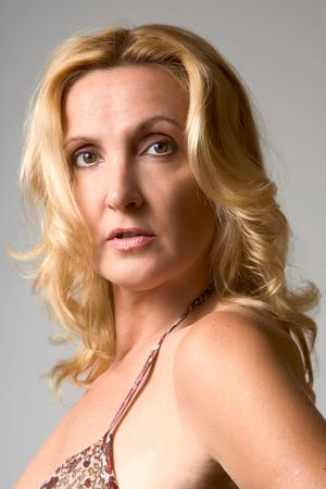 Headshot of mature blond woman  photo