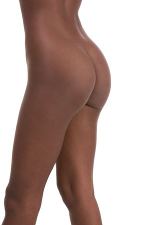 afro american nude: buttocks of Nude young African-American female model (side view) Stock Photo