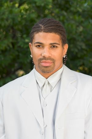italian ethnicity: Headshot of mid aged multiethnic black man of African American and Italian ethnicity