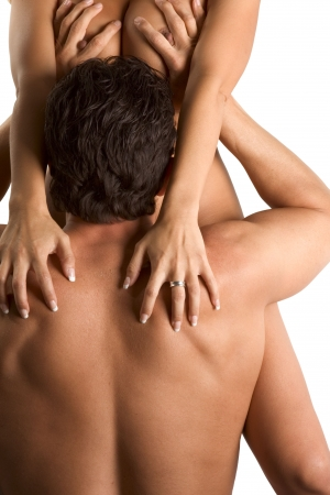 geschlechtsakt: Sexualit�t Serie. Sinnlich paar Mann Cunnilingus f�r seine Geliebte oder Frau durchf�hren