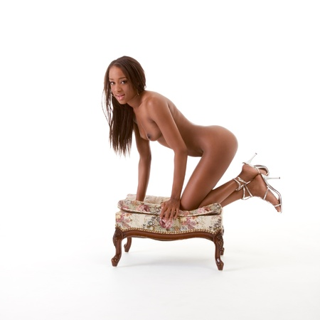 Young sexy nude ethnic black African-American woman Stock Photo - 11841291