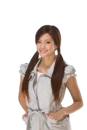 Friendly Asian High school girl student photo