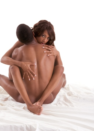 Lovers - African-American black sensual couple making love in bed Stock Photo - 17851332