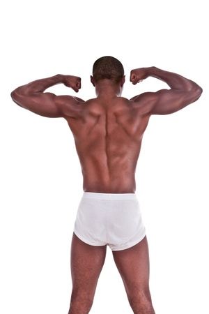 Junge sch?ne Sportlich Muskul?s ethnischen schwarzen Afro-Amerikaner