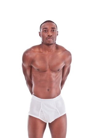 Young handsome Athletic muscular ethnic black Afro-American man photo