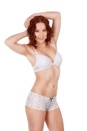 Fashion model in sexy underwear photo