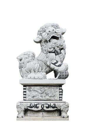 Sculpture Big lion isolated