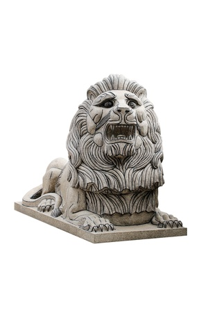 Sculpture lion Front isolated