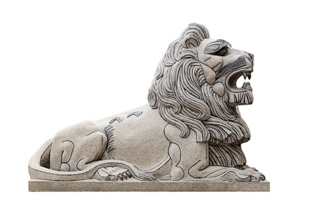 Sculpture lion Right Side isolated Stock Photo