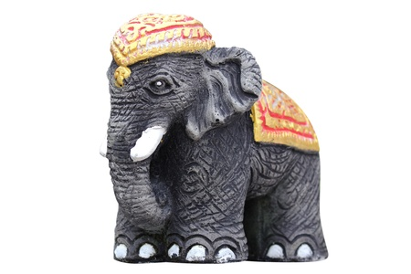 Sculpture Elephant frontside in isolated
