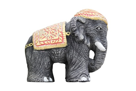 Sculpture Elephant Rightside in isolated