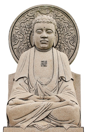 Bhudda ChineseSculpture in isolated