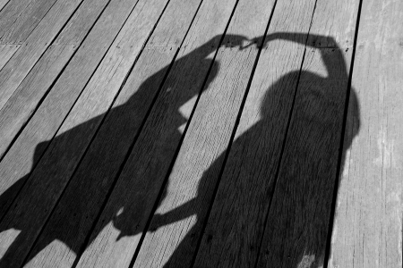 2 People shadow Stock Photo
