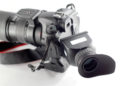 Camera with Lcd Hood for VDO Stock Photo