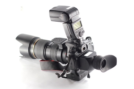 pall: Camera with Lcd Hood for VDO Stock Photo