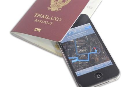 Passport Book and navigator Editorial