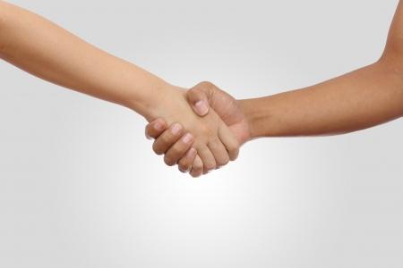 Men and Women are Shake hand