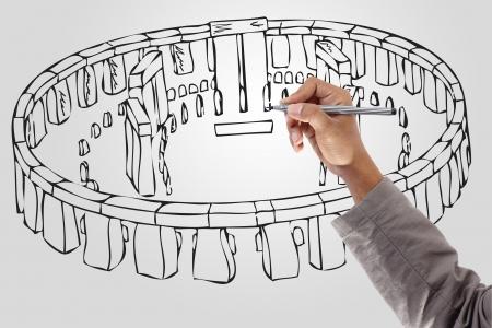 Drawing stonehenge