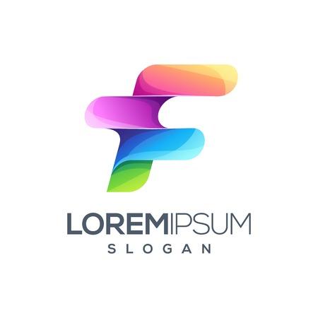 awesome letter F logo design