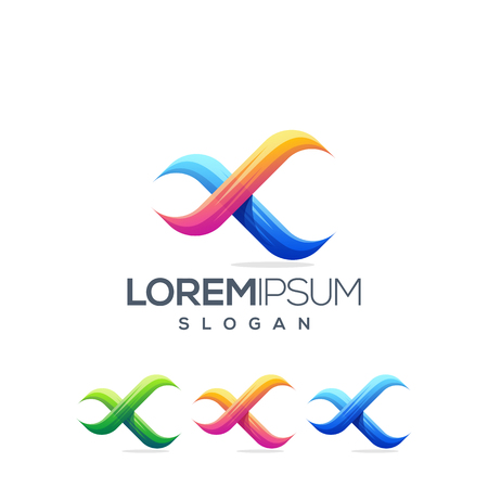 infinity x logo design