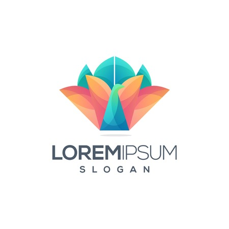 awesome colorful bird logo design ready to use