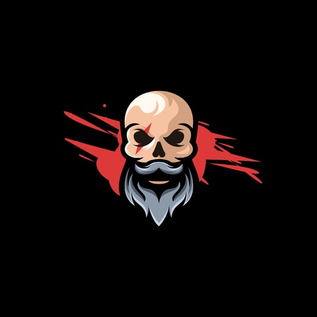 awesome skull logo design ready for gaming logo or other