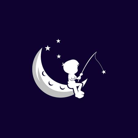 plantilla de ilustración de diseño de vector de sueño infantil