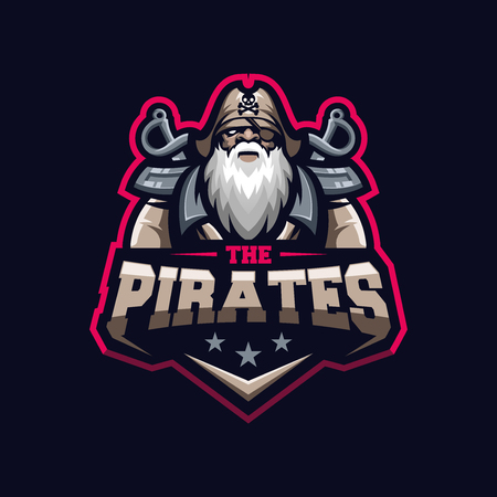 awesome pirates logo template