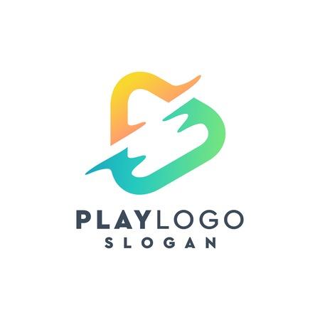 play logo design,vector,illustration Ilustração