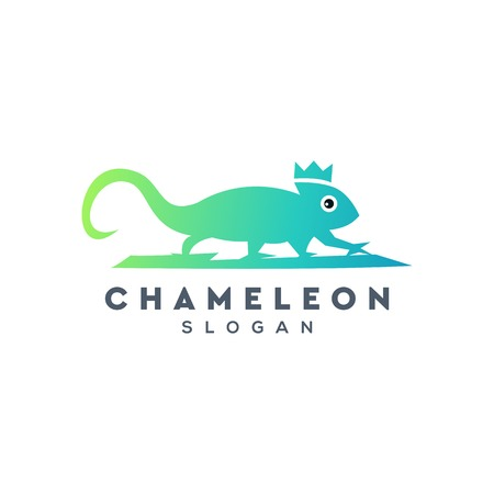 chameleon logo design,vector,illustration  イラスト・ベクター素材
