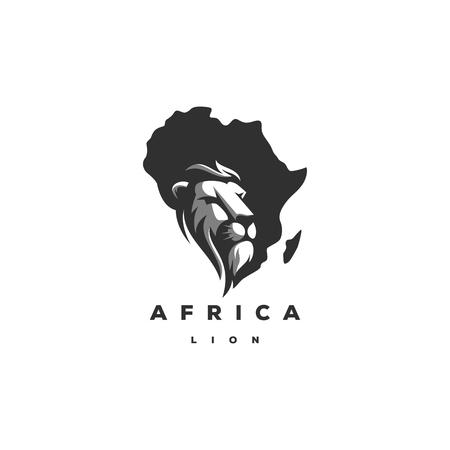 lion africa logo design,vector,illustration