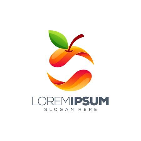 buntes orangefarbenes Logo-Design