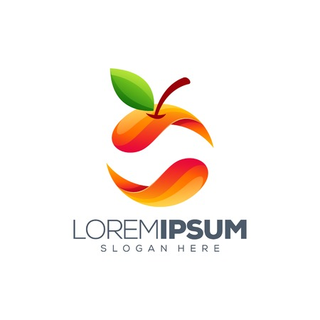 colorful orange logo design