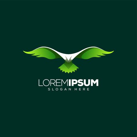 awesome eagle logo design vector illustration