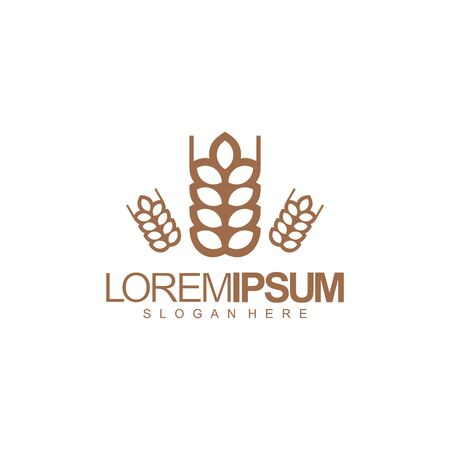 farmer logo design vector illustration
