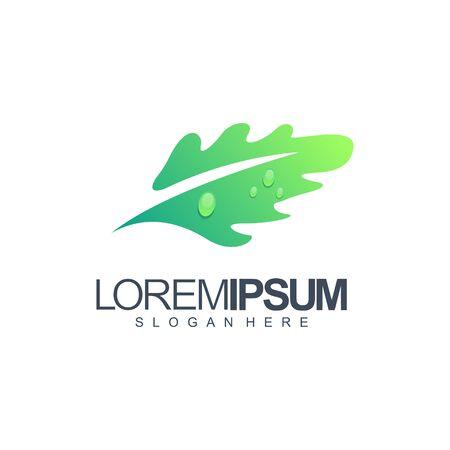 blad logo ontwerp vectorillustratie Logo