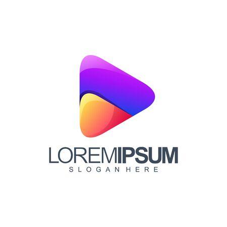 media logo design vector illustration