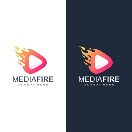 media fire logo design vector illustration