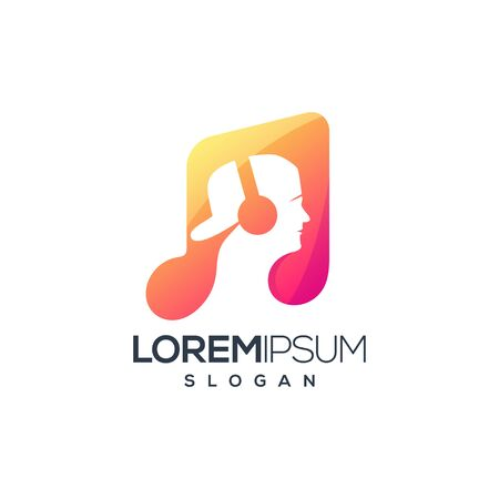 music logo design vector illustration