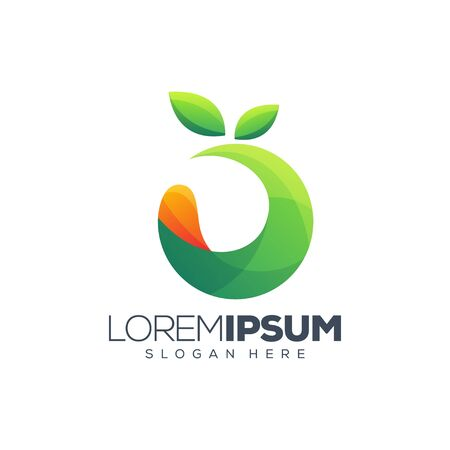 colorful fruit logo design vector illustration Ilustração