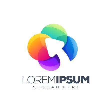 colorful arrow logo design vector illustration
