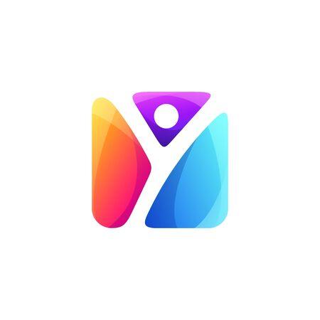 letter Y logo design vector  イラスト・ベクター素材