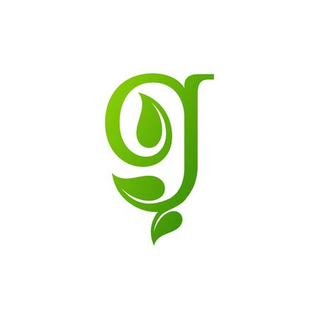 letter G grow logo design vector