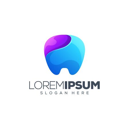 awesome dental logo design vector illustration